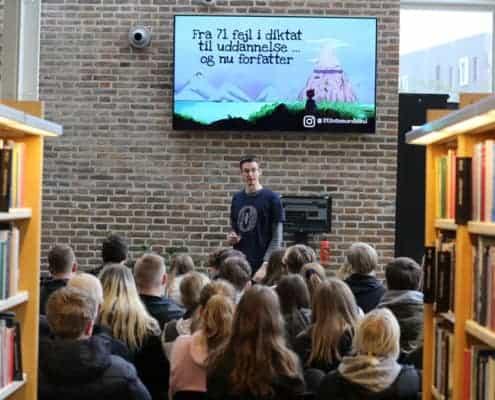 Foredrag på Aalborg Bibliotek - fra 71 fejl i diktat til uddannelse ... og nu forfatter