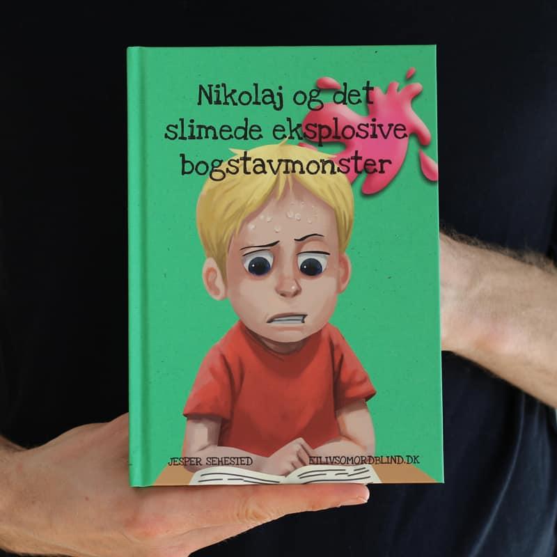 Bog - Nikolaj og det slimede eksplosive bogstavmonster af Jesper Sehested