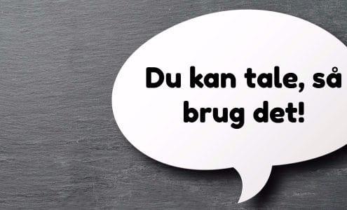 Du kan tale, så brug det!