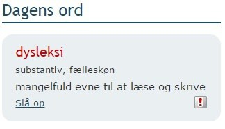 Dagens ord: Dysleksi