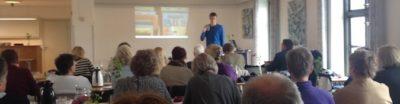 Jesper Sehested Jensen holder foredrag om livet som ordblind i folkeskolen