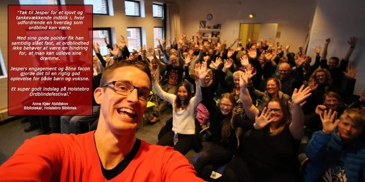 Jesper Sehested fortæller om sit liv som ordblind i Ordblindeugen40