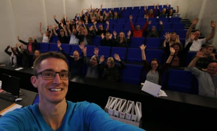 Foredrag om livet som ordblind, på Tradium af Jesper Sehested