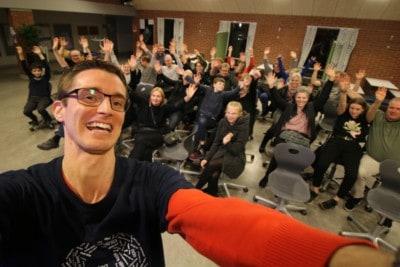 Foredrag om livet som ordblind på Havdrup skole.