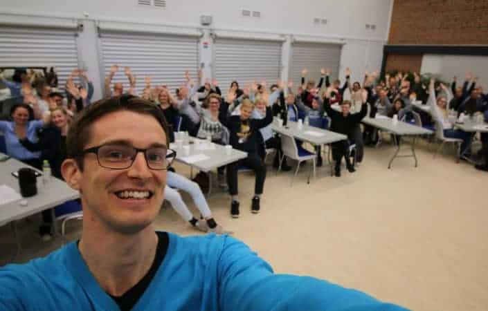 Jesper fortælle om ordblindhed på Solbjergskolen