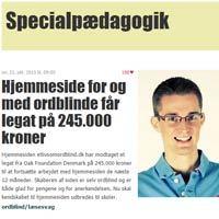 Hjemmeside for og med ordblinde får legat på 245.000 kroner fra Folkeskolen.dk