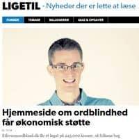Hjemmeside om ordblindhed får økonomisk støtte fra DR.dk/ligetil