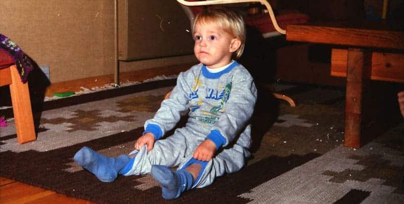 Jesper Sehested som barn