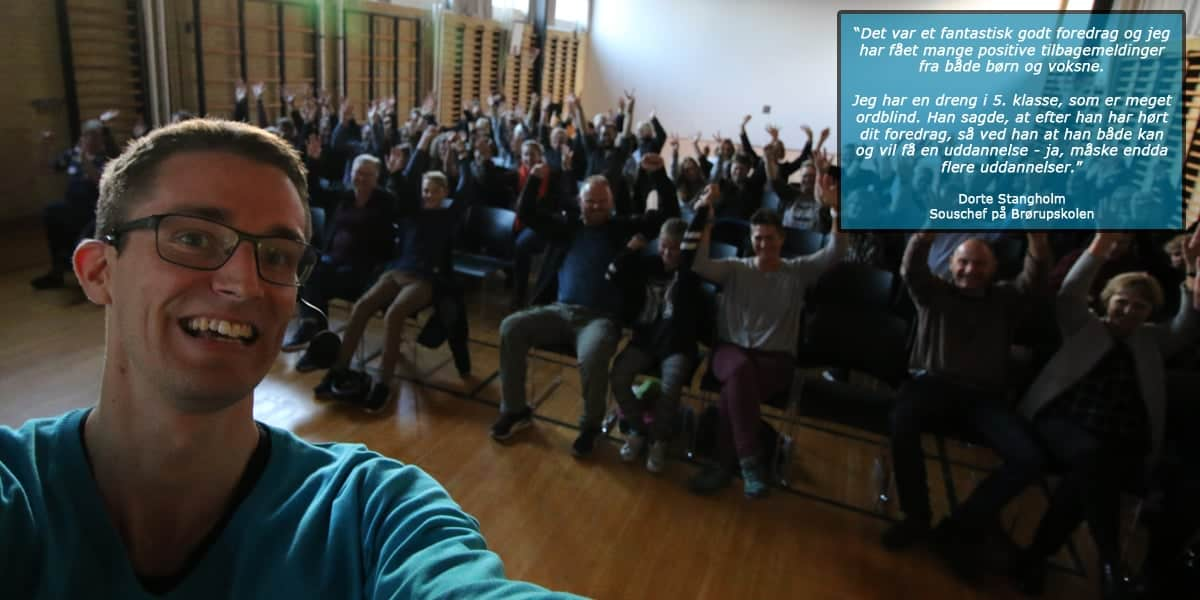 Ordblindeugen og foredrag og livet som ordblind med Jesper Sehested