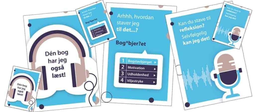 LST - Plakater og papkort til at hjælpe ordblinde til at bruge deres hjælpemidler