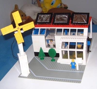 miljøvenlig Lego hus