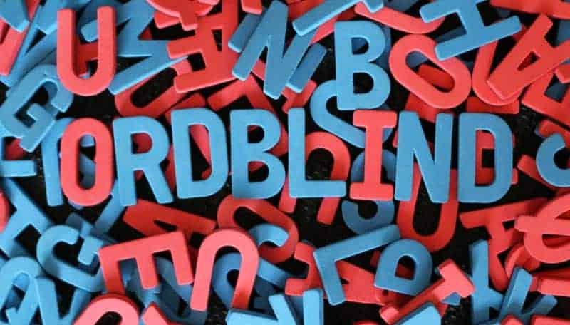 Ordblind i bogstaver