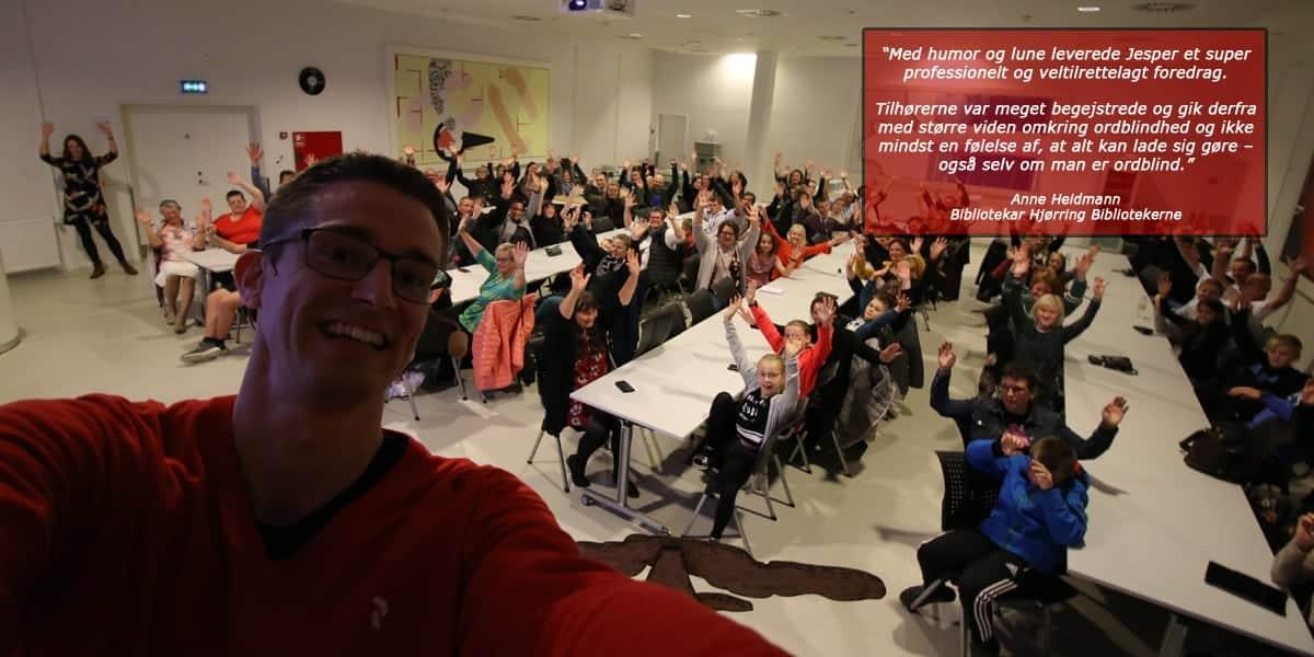 Foredrag i Ordblindeugen med Jesper Sehested om livet som ordblind
