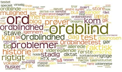 Ordblind, ord, test
