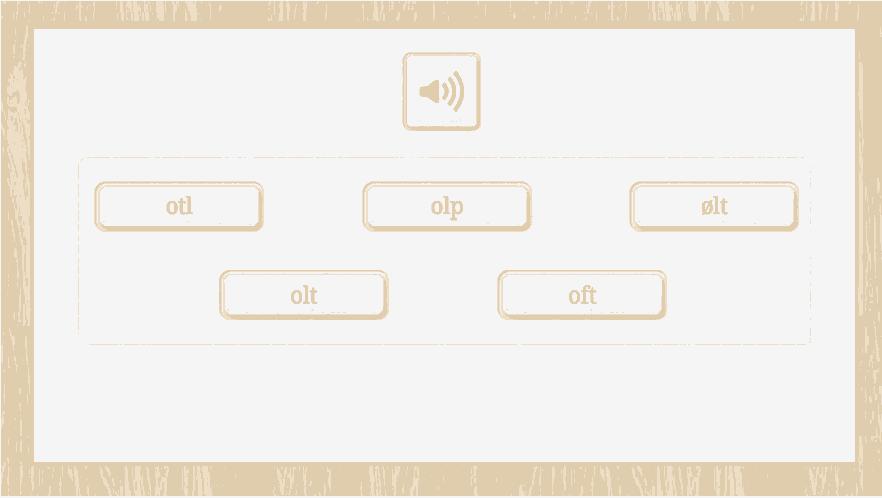 Ordblindetest opgave: Find stavemåden