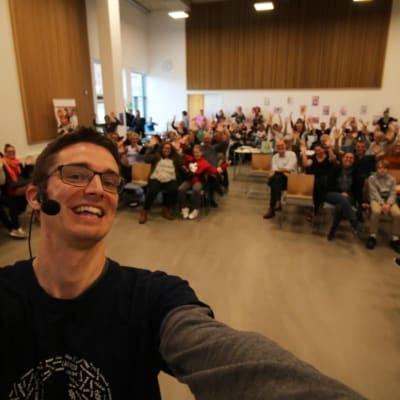Foredrag på Sønderborg Bibliotek af Jesper Sehested om livet som ordblind