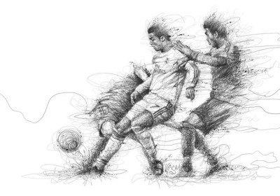 Vince Low fodbold kunst