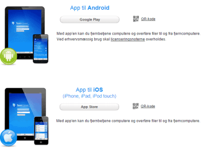 Teamviewer til iPhone og Android