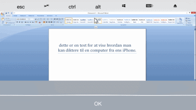 Teamviewer og iPhone diktere