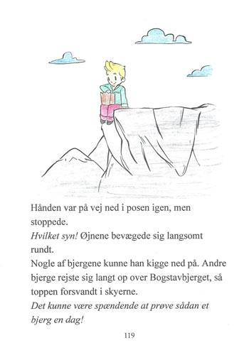 Tegning fra Ordblindebogen af en ordblind - side 119