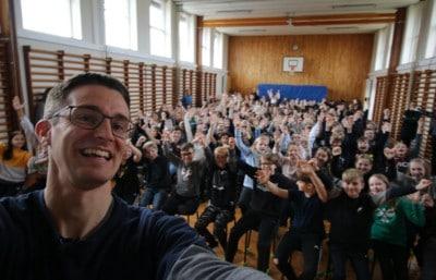 Foredrag på Ulfborg skole om livet som ordblind