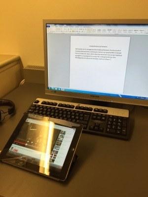 iPad og computer på VUC Lyngby