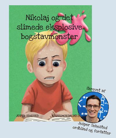 nikolaj og det slimede eksplosive bogstavmonster skrevet af Jesper Sehested