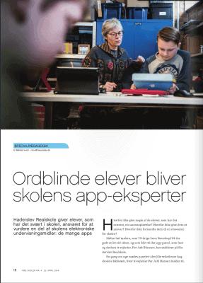 Artikel: Ordblinde elever bliver skolens app-eksperter