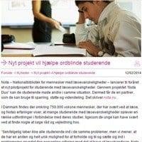Hjælp til ordblinde studerende i uddannelse