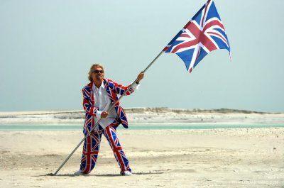 Richard Branson i sjovt tøj