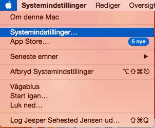 systemindstillinger på mac