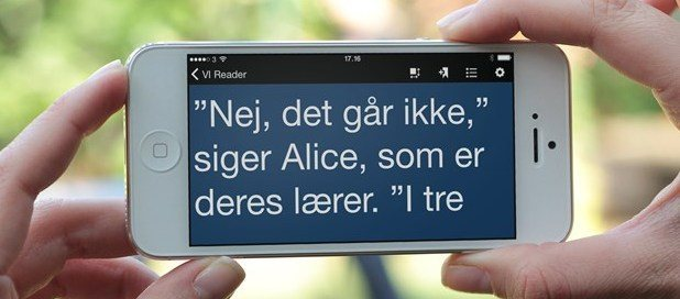 VI Reader på iPhone